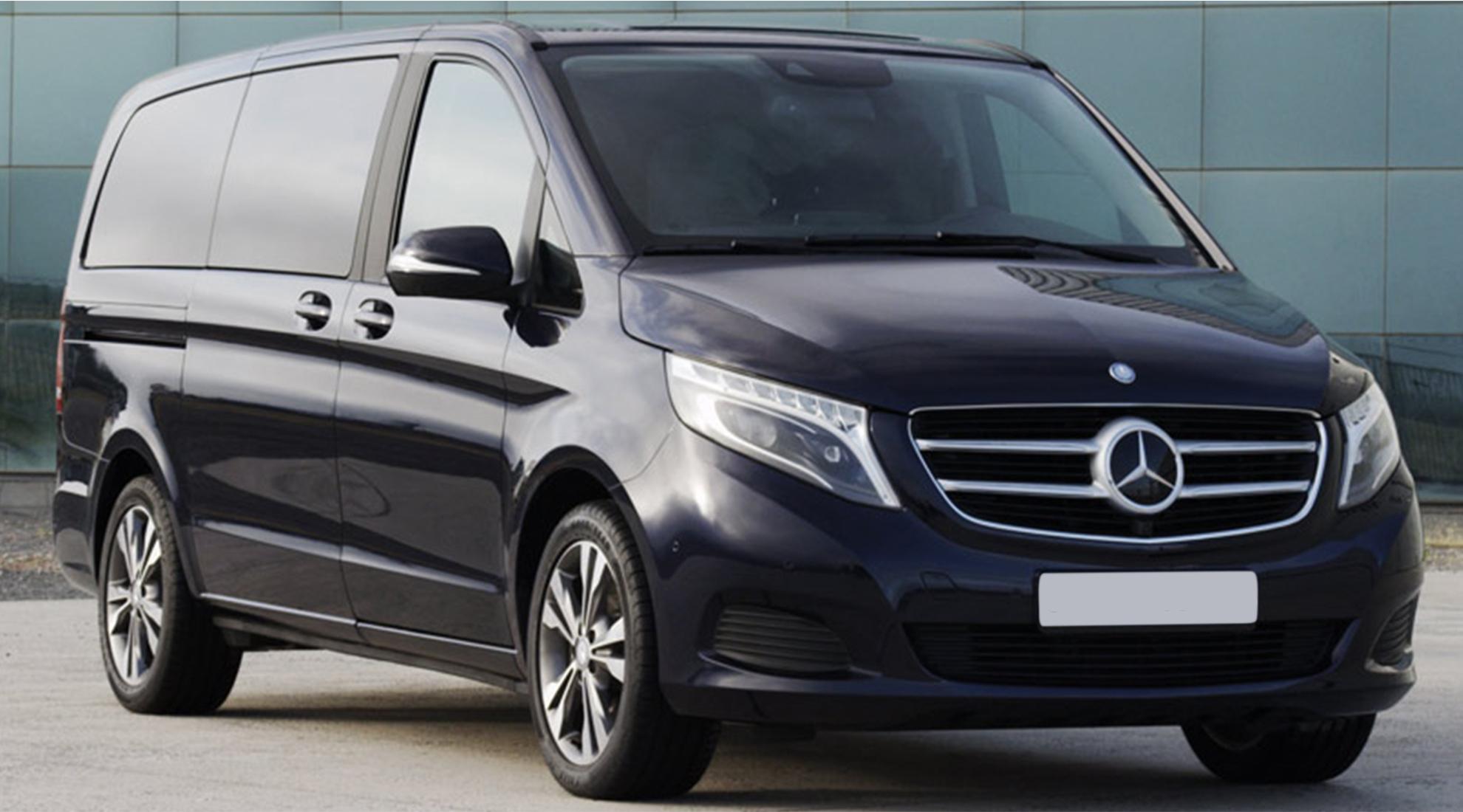 Mercedes Class V - Monospace spacieux et confortable pouvant accueillir jusqu'à 7 passagers